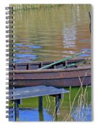 Rowboat And Blue Reflections Spiral Notebook