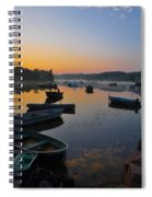 Rowboats At Rest Spiral Notebook