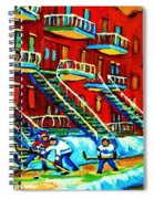 Rowhouses And Hockey Spiral Notebook
