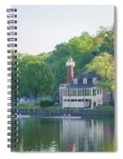 Rowing Along The Schuylkill River In Philadelphia Spiral Notebook