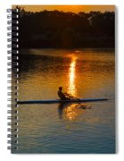 Rowing At Sunset 2 Spiral Notebook