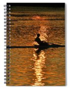 Rowing At Sunset 3 Spiral Notebook