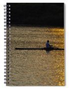Rowing At Sunset Spiral Notebook