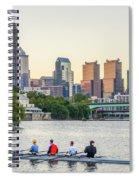 Rowing The Schuylkill - Philadelphia Cityscape Spiral Notebook