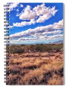 Rows Of Clouds Over Sonoran Desert Spiral Notebook