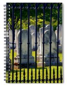 Rows Of Stone And Iron Spiral Notebook