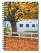 Roxbury Connecticut Barn Square Spiral Notebook