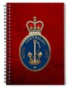 Royal Australian Navy -  R A N  Badge Over Red Velvet Spiral Notebook