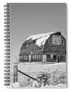 Royal Barn Winter Bnw Spiral Notebook