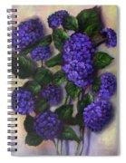 Royal Blue Hydrangea Spiral Notebook