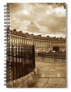 Royal Crescent Bath Somerset England Uk Spiral Notebook
