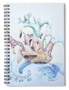 Royal Fireworks Barge Spiral Notebook