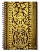 Royal Palace Gilded Door 01 Spiral Notebook