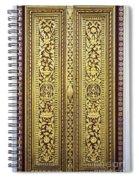 Royal Palace Gilded Doors Spiral Notebook