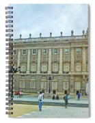Royal Palace In Madrid In A Beautiful Summer Day, Spain Spiral Notebook