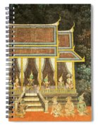 Royal Palace Ramayana 18 Spiral Notebook