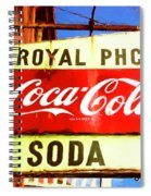 Royal Phcy Coke Sign Spiral Notebook