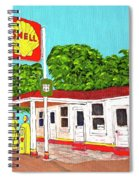 Rt 66 Shell Station Spiral Notebook