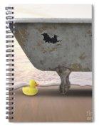 Rubber Ducky Bathtub Beach Surreal Spiral Notebook