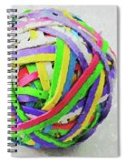 Rubberband Ball I Spiral Notebook