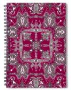 Rubies And Silver Kaleidoscope Spiral Notebook