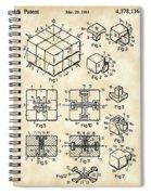 Rubik's Cube Patent 1983 - Vintage Spiral Notebook