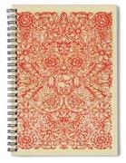 Rubino Red Floral Spiral Notebook