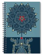 Rubino Zen Flower Spiral Notebook