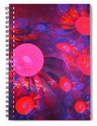 Ruby Blue Rays Spiral Notebook