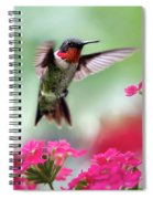 Ruby Garden Jewel Spiral Notebook