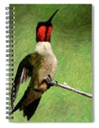 Ruby Red - Digital Art Spiral Notebook