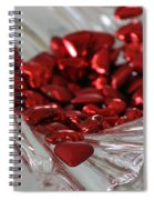 Ruby Red Hearts And Crystal Spiral Notebook