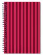 Ruby Red Striped Pattern Design Spiral Notebook