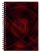 Ruby Red Veil Spiral Notebook