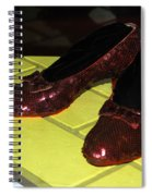 Ruby Slippers On The Yellow Brick Road Spiral Notebook
