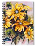 Rudbeckia  Prairie Sun Spiral Notebook