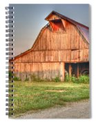 Ruddish Barn At Dawn Spiral Notebook