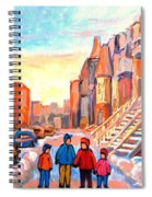 Rue Hotel De Ville Montreal Spiral Notebook
