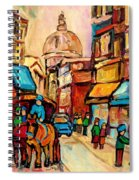 Rue St Jacques Old Montreal Streets  Spiral Notebook