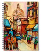 Rue St. Paul Old Montreal Streetscene Spiral Notebook