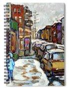 Achetez Les Petits Formats Scenes De Montreal St Viateur Bagel And Cola Truck Buy Montreal Painting  Spiral Notebook