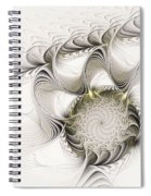Ruffled Flower Spiral Notebook