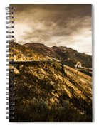 Rugged And Intense Mountain Background Spiral Notebook