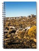 Rugged Mountain Town Spiral Notebook