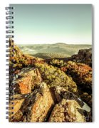 Rugged Mountaintops To Regional Valleys Spiral Notebook