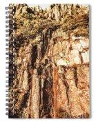 Rugged Vertical Cliff Face Spiral Notebook