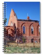 Ruined Church In Rural Utah Spiral Notebook