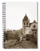 Ruins Of Carmel Mission, Monterey, Cal. Circa 1882 Spiral Notebook