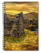 Ruins Of Snowdonia Panorama Spiral Notebook