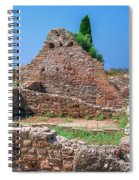 Ruins Of The Ancient City Of Side Spiral Notebook